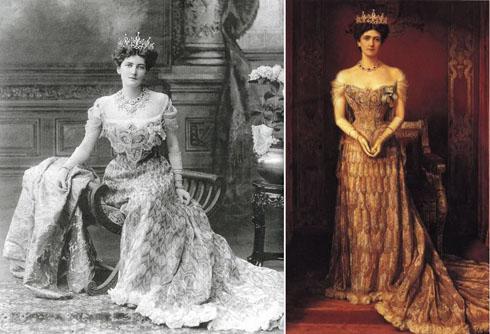 Nam tước phu nhân Mary Curzon mặc một trong những bộ trang phục thành danh nhất của Worth