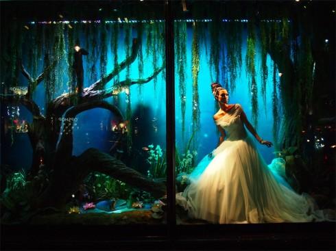 Những công chúa Disney tại trung tâm Harrods Đông 2012