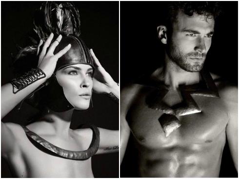 Năm 2011, nữ diễn viên Julianne Moore hóa trang thành Hera, người mẫu Brad Kroenig vai thần Zeus dưới ống kính của Karl Lagerfeld.