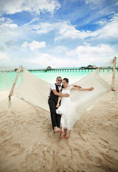 Ảnh cưới lãng mạn của Ngọc Thạch