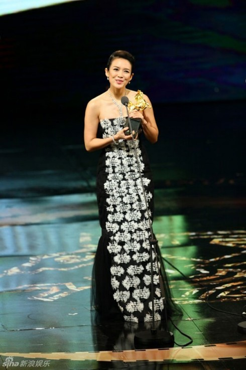 Chương Tử Di nhận giải Ảnh hậu Kim Mã 2013