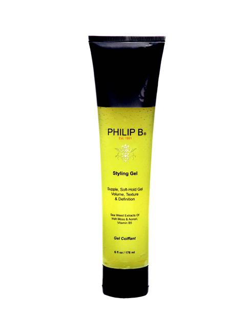 Gel tạo kiểu Philip B Styling Gel<br/>Thoa một lượng nhỏ gel Philip B vừa đủ lên mái tóc đã được tạo kiểu, gel mềm cho những lọn tóc tự nhiên.