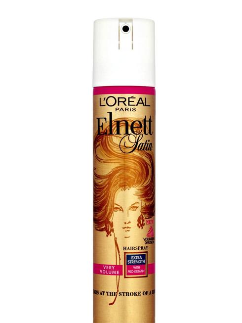 Chai xịt tạo kiểu tóc Elnett Satin Hairspray của L'Oréal Paris<br/>Sử dụng sản phẩm sau khi đã tạo kiểu để giữ nếp tóc