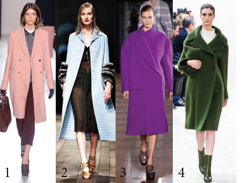 1&2. Prada 3.Stella McCartney 4.Céline