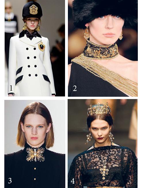 1.Moschino 2.Ralph Lauren 3.Emanuel Ungaro 4.Dolce&Gabbana