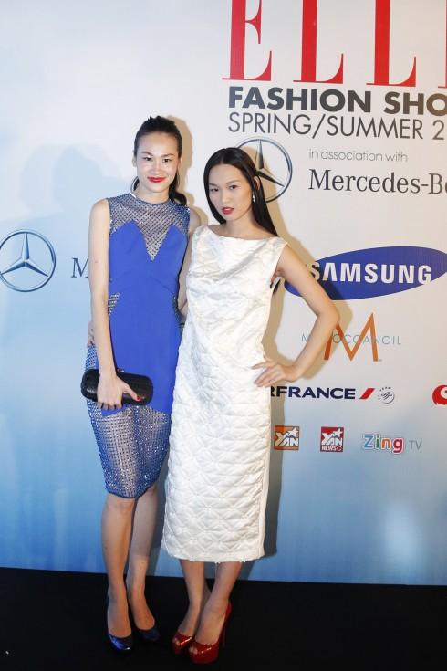 Tống Diệu Hằng và người mẫu Trương Thanh Trúc, đạo diễn catwalk của EFS lần này