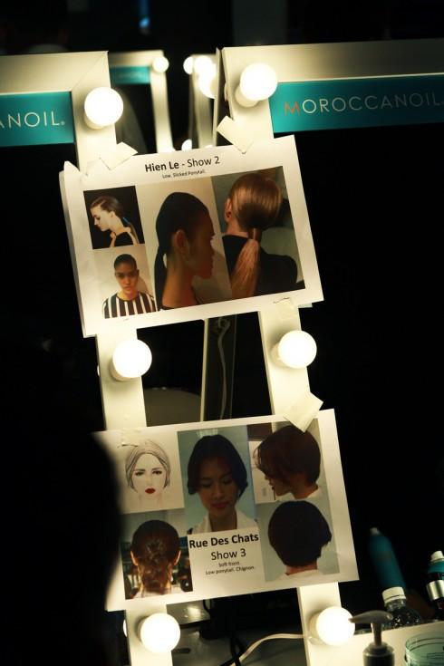 Những hình ảnh phác họa ý tưởng về makeup và kiểu tóc cho mỗi bộ sưu tập. Theo đó, đội ngũ chuyên gia làm đẹp sẽ biểu diễn