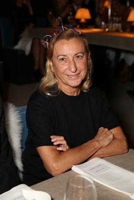 Nhà thiết kế Miuccia Prada của thương hiệu Prada.