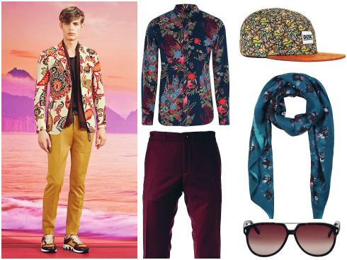 Áo sơmi Alexander McQueen, quần Lacoste, mũ Zara, khăn quàng Alexander McQueen, kính mát Dolce&Gabbana.