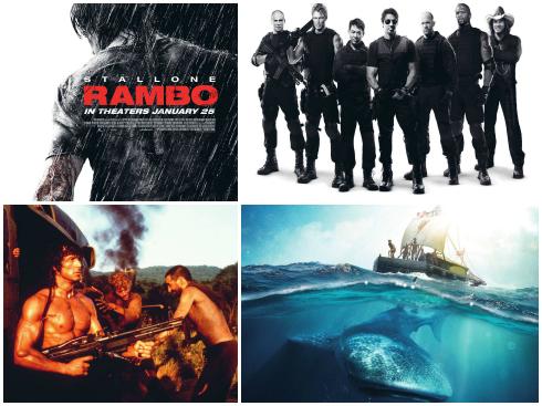 """Poster của Rambo đánh thẳng vào thị hiếu nam nhi: mạnh mẽ, phong trần. Dù rất ít phụ nữ thích Rambo, nhưng cánh đàn ông thì mê mệt.  Expandables - có người đàn ông nào mà không muốn thành """"chuẩn men"""" như thế? Mọi cậu bé đều có lúc muốn mình được phiêu lưu như các nhân vật trong Kon-Tiki."""