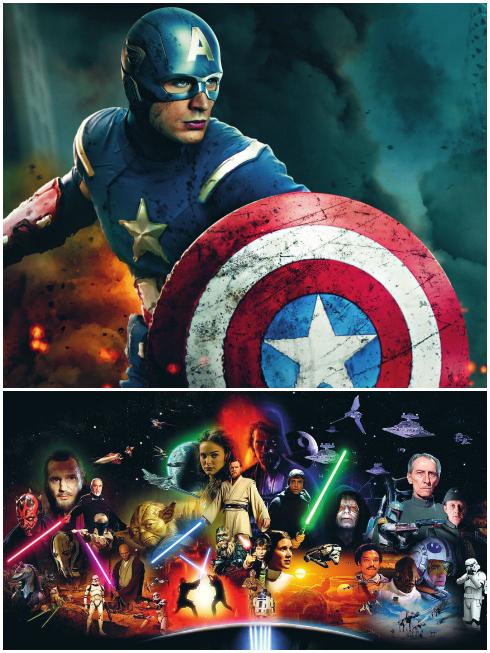 Captain American, từ một chàng trai lỏng khỏng thành một anh hùng... Star Wars, tác ông thì mê mệt phẩm có mọi thứ: phiêu lưu, khoa học công nghệ, và đặc biệt là những người hùng