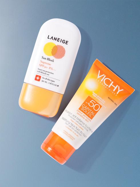 FRIENDLY STAR<br/>Capital Soleil SPF 50 – VICHY Màng lọc Meroxyl XL với khả năng bảo vệ cao giúp bảo vệ da trước tác hại của tia UVA, UVB, việc hình thành đốm nâu và lão hoá da sớm do tác hại của ánh nắng mặt trời. Ngăn ngừa tổn hại đối với da, các đốm nâu và nếp nhăn do ánh nắng mặt trời. (680.000 VNĐ) <br> <br> Waterproof Sun Block Supreme SPF 50+ PA+++ - LANEIGE Kem chống nắng thích hợp với những hoạt động ngoài trời, bảo vệ làn da của bạn một cách tối ưu trước tác động bất lợi của các tia UV nhờ chỉ số chống nắng SPF50+/PA+++. Với thành phần chứa chiết xuất từ 6 loại thảo mộc và nước khoáng, kem có kết cấu nhẹ nhàng, tươi mát, không gây nhờn rít cho da (600.000 VNĐ)
