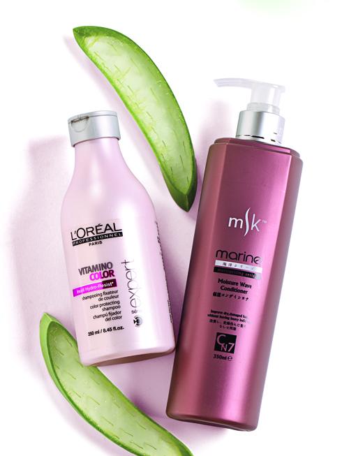 Dòng Stylish<br/>Vitamino Color L'ORÉAL PROFESSIONNEL (280.000 VNĐ) Dầu gội dành cho tóc nhuộm chứa hợp chất Amino Axit giúp duy trì màu nhuộm, phục hồi và tăng cường sức sống cho mái tóc. Vitamin E, dưỡng chất protein và màng lọc tia UV giúp chống oxi hóa và tạo nên lớp màng bảo vệ tóc. <br> <br> Dầu gội Moisture Wave – MSK Dầu gội dành cho tóc đã bị xử lý hóa chất, bị hư tổn nặng và tóc bị gãy giòn. Công thức chứa chiết xuất từ các loại tảo giúp cải thiện tình trạng xơ rối, xỉn màu, phục hồi  và cải thiện độ óng ả cho mái tóc.