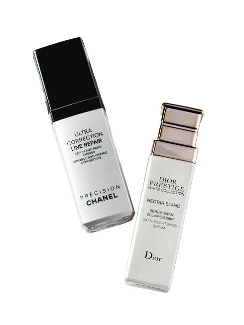 FRIENDLY STAR<br/>Ultra Correction Line Repair - Chanel (3.927.000 VND)  <br> Thành phần chính Bay Cedar PFA giúp củng cố cấu trúc của da bằng cách sắp xếp lại các tế bào collagen, làm mờ những nếp nhăn, cho làn da căng đầy và săn chắc hơn. <br> <br> Prestige White Serum – Dior (7.540.000 VND) <br> Serum chống l.o hóa và dưỡng trắng chứa chiết xuất từ hoa hồng Granville giúp hạn chế kích ứng và phục hồi những tổn thương trên da. Làn da được nuôi dưỡng và dưỡng ẩm sâu.