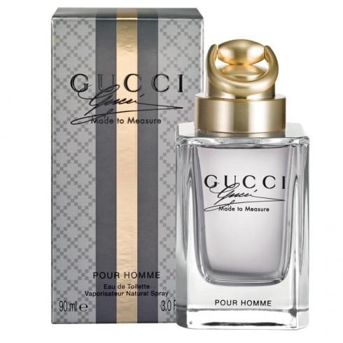 2. Gucci Made to Measure<br/>Hương thơm hoàn hảo dành cho những chàng trai rất sành về thời trang, và muốn nước hoa của mình cũng phải hợp với bộ vest mình đang mặc. Made to measure có mùi hương cay nồng và khác lạ, lấy cảm hứng từ những bộ vest được cắt may công phu của Gucci.