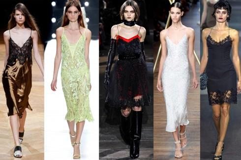 Sau khi dần mờ nhạt khỏi thế giới thời trang từ năm 1998, slip dress đã trở lại từ năm 2011 và ngày càng có sức hút như một mẫu đầm sang trọng, quyến rũ dành cho tiệc đêm. Ralph Lauren, Jason Wu, Alberta Ferretti, Givenchy, Roberto Cavalli đã và đang mang kiểu trang phục này trở lại sàn diễn và tủ đồ của phụ nữ.