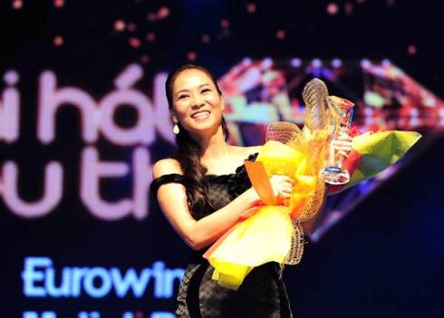 Thu Minh giành giải Bài hát yêu thích tháng 8