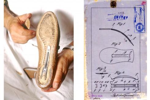 Năm 1931, 'nhà làm giày cho các ngôi sao' Salvatore Ferragamo đã sáng chế ra bộ phận hỗ trợ vòm bàn chân làm từ thép, giúp đôi giày cao gót được vững chãi hơn và nhẹ hơn so với làm bằng da cứng hoặc gỗ như trước đó. Điều này đã mở đường cho những đôi giày ngày càng cao hơn nữa.