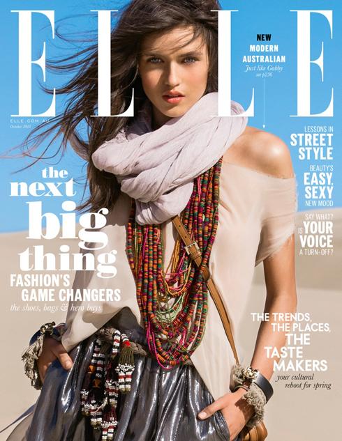 Bìa ELLE Úc tháng 10: Người mẫu trẻ Gabby Westbrook Patrick.