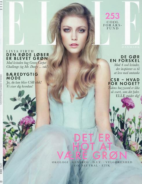 Bìa ELLE Đan Mạch tháng 4: Người mẫu Lucia Jonova.