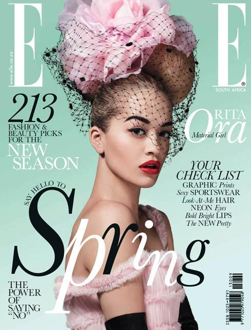 Bìa ELLE Nam Phi tháng 9: Ca sĩ Rita Ora.