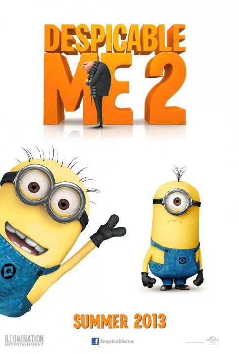 2. Despicable Me 2<br/>Tiếp nối phần 1 rất thành công với đề cử giải Quả cầu vàng cho phim hoạt hình hay nhất, Despicable Me 2 đã không phụ lòng các fan của mình bằng nội dung hấp dẫn và ngay lập tức thu về doanh thu khoảng 918 triệu USD (phần 1 doanh thu khoảng 500 triệu USD), trong khi kinh phí bỏ ra chỉ hơn phần 1 là 10 triệu USD. <br/>Với nội dung vừa hài hước vừa giàu ý nghĩa, Despicable Me 2 đã nhận được hầu hết sự đánh giá tích cực từ phía các nhà chuyên môn và khán giả, bộ phim được đánh giá 7,6/10 điểm trên IMDb.