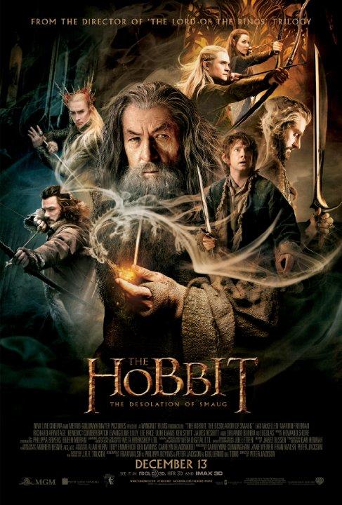 8. The Hobbit: The Desolation of Smaug<br/>Đây là tập thứ 2 của loạt phim gồm 3 phần được chuyển thể từ cuốn tiểu thuyết cùng tên xuất bản từ năm 1937 của J. R. R. Tolkien. Mặc dù không có mức doanh thu lớn như phần 1 (hơn 1 tỷ USD) thế nhưng phần thứ 2 vẫn gây được ấn tượng đáng kể, mang về cho hãng Warner Bros 633 triệu USD chỉ sau 1 tháng ra mắt. <br/> Hiện nay, dù đang là một bộ phim mới nhưng The Hobbit: The Desolation of Smaug đã liên tục giữ vị trí đầu bảng xếp hạng Top 10 Box Office tại khu vực Bắc Mỹ.