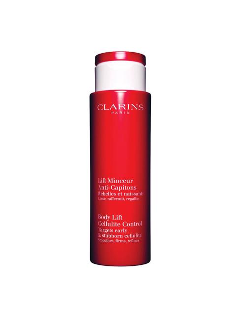 """Kem tan mỡ: Body Lift Cellulite Control, Clarins. """"Kem làn tan mỡ của Clarins giúp làm săn chắc và thon gọn những đường nét trên cơ thể. Khi thoa lên da lập tức cho cảm giác mềm và mịn, không bị bết dính. Ngày qua ngày kem phát huy tác dụng ngăn chặn tích lũy mỡ thừa dưới da"""". Janna O'Toole – Beauty & Fitness Director, ELLE Australia."""