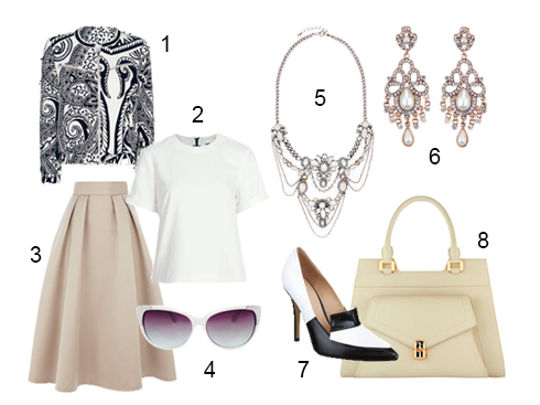 1.Mango 2.Topshop 3.Coast 4.Mango 5.Accessorize 6.Accessorize 7.Topshop 8.Charles & Keith