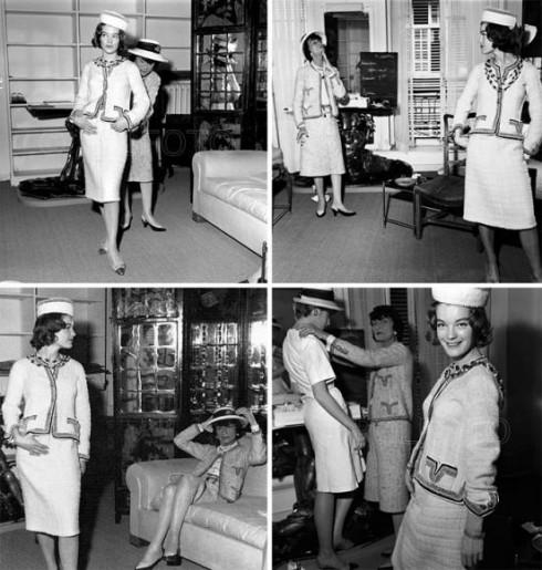 3. Coco Chanel & chiếc áo khoác kinh điển<br/>Những năm 1920, nhà thiết kế thời trang nổi tiếng Coco Chanel đã được tiếp xúc với trang phục vải tweed qua chuyến nghỉ mát cùng người yêu, Công tước xứ Westminster. Bà đã biến chất liệu thô ráp vốn chỉ dành để may trang phục nam giới thành chiếc áo khoác cổ tròn hiện đại, vuông vắn với những đường may tinh tế dành riêng cho nữ giới.