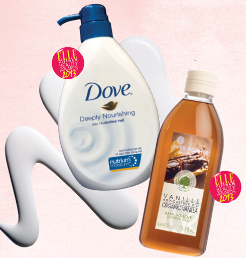 HẠNG MỤC SỮA TẮM<br/>Sản phẩm ngôi sao của năm: DOVE Deeply Nourishing <br/> Sữa tắm Dove có chứa Nutrium MoistureTM – hỗn hợp độc đáo gồm dưỡng chất dưỡng ẩm kết hợp với lipid tự nhiên, thẩm thấu hiệu quả để nuôi dưỡng làn da tận sâu bên trong. <br/> <br/> Sản phẩm bạn đọc yêu thích: YVES ROCHER Organic Vanilla Shower Gel <br/> Sữa tắm chứa tinh dầu vanila hữu cơ nhẹ nhàng tạo nên một lớp bọt mịn. Hương thơm gợi cảm và nồng ấm của Bourbon vanila mang đến cảm giác dễ chịu và ấm áp cho da.