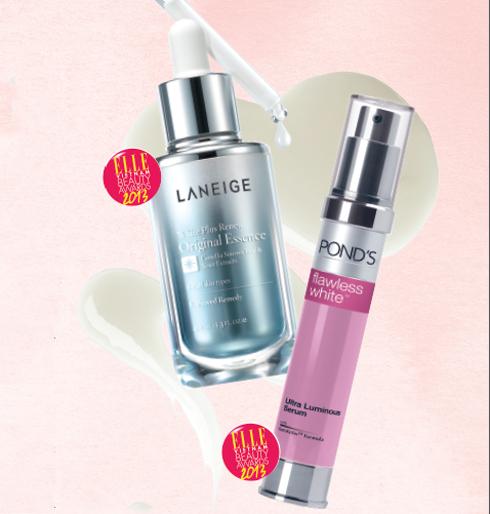 HẠNG MỤC LÀM TRẮNG<br/>Sản phẩm ngôi sao của năm: LANEIGE White Plus Renew Original Essence <br/>Tinh chất dưỡng da và làm trắng với công thức MelacrusherTM thúc đẩy quá trình làm sáng da từ trong ra ngoài, tăng cường đào thải các hạt sắc tố trên da, làm mờ đốm nâu và làm đều màu da. Công thức chứa chiết xuất từ nấm truffle trắng quý hiếm và trà xanh giúp làn da sáng hồng tự nhiên. <br/><br/> Sản phẩm bạn đọc yêu thích: POND'S Flawless White Ultra Luminous Serum  <br/> Tinh chất được tăng cường gấp đôi phức hợp dưỡng trắng. Công thức GenActiv™ giúp cải thiện quá trình hoạt động tự nhiên của làn da, làm mờ các vết thâm dai dẳng. Sản phẩm còn giúp ngăn chặn quá trình sản sinh những vết thâm nám khó mờ bằng cách tiết chế sự di chuyển của hắc sắc tố lên bề mặt da.