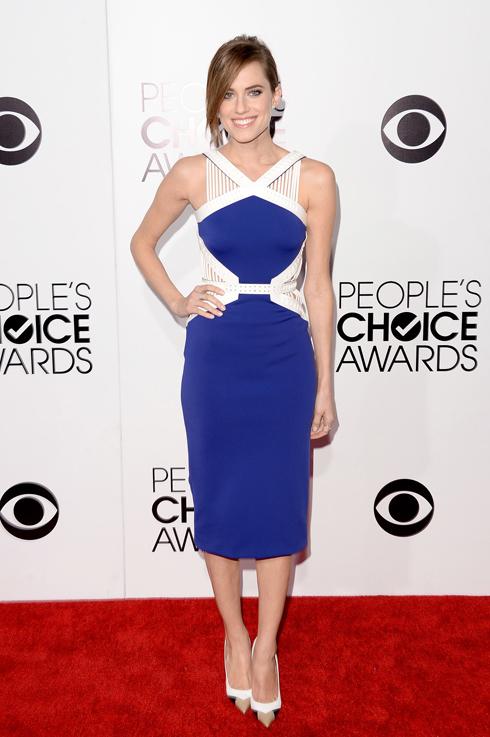 Ngôi sao trẻ của serie phim Girls, Allison Williams trong trang phục của David Koma.
