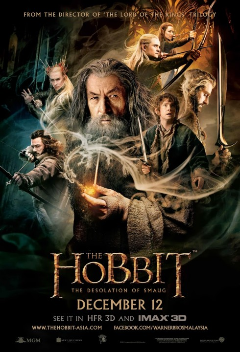 The Hobbit 2 The Desolation of Smaug official movie poster in Malaysia - HD large