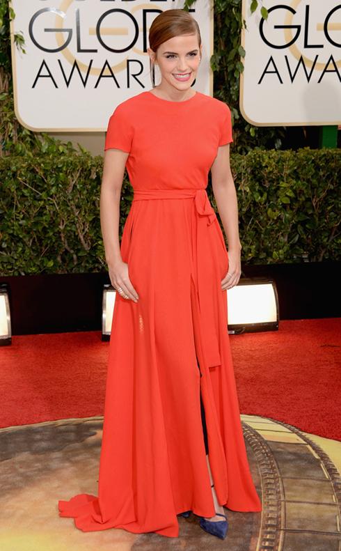 Emma Watson chọn trang phục Dior với tá áo cam nữ tính ...