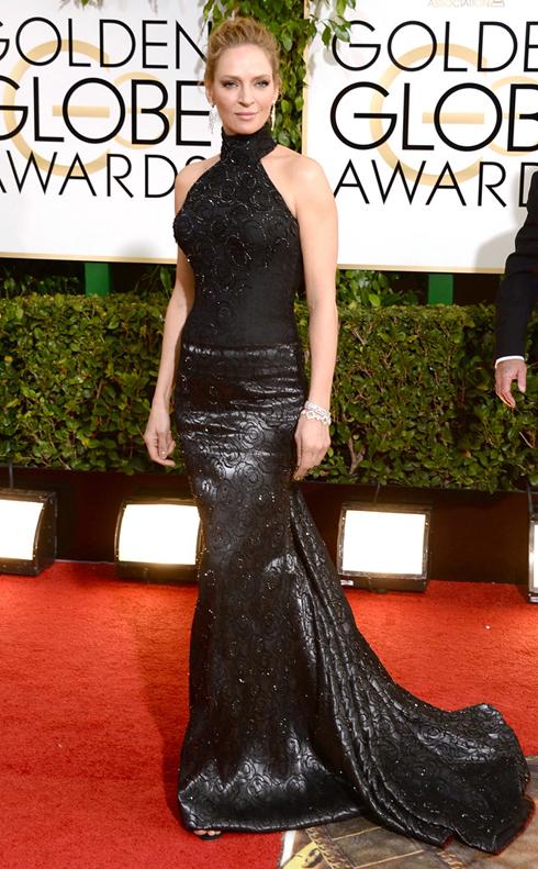 Nữ diễn viên Uma Thurman khiến người ta không tài nào đoán ra tuổi thật, mặn mà và quyến rũ trong chiếc đầm hết sức