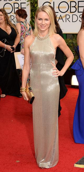 Naomi Watts và đầm ánh kim của Tom Ford.
