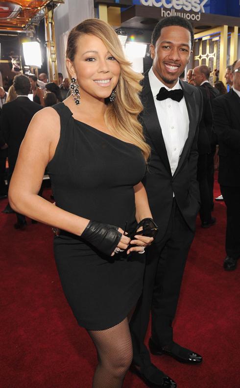 Mariah Carey trong chiếc đầm Saint Laurent.