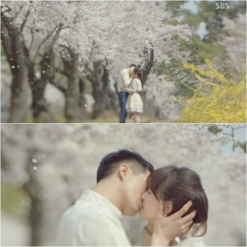 Nụ hôn lãng mạn ngọt ngào trong Gió thổi mùa đông năm ấy