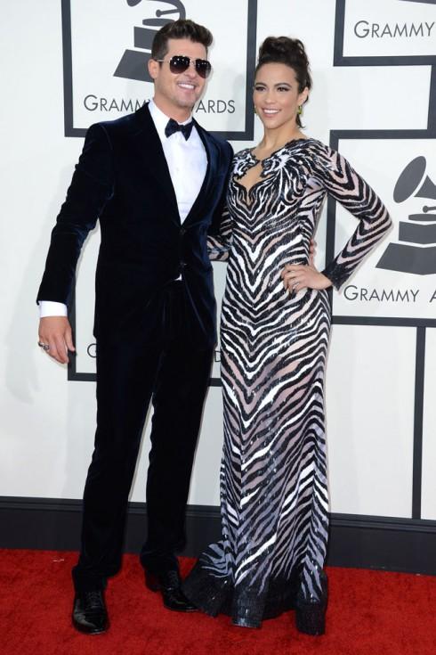 Ca sĩ Robin Thicke và Paula Patton.