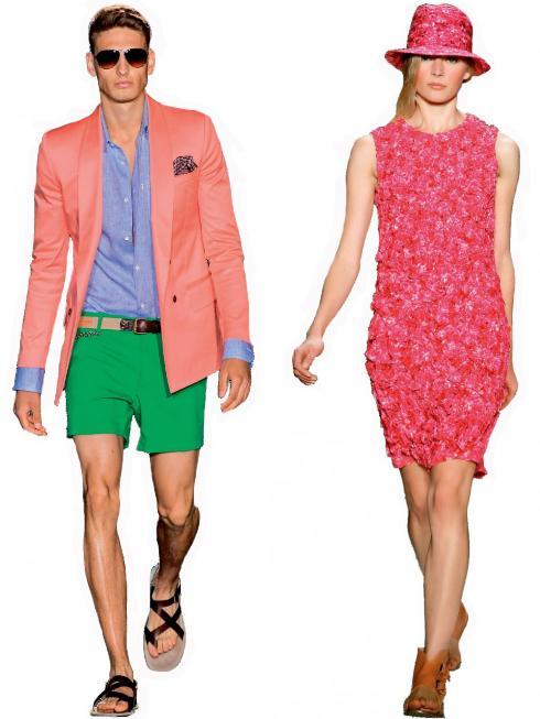 Cặp đôi màu sắc (colorist couple)<br/>Thời trang nam thường bị bó buộc trong tông màu trầm giờ lại được bao phủ bởi những màu sắc đa dạng mang lại cảm giác tươi mát.