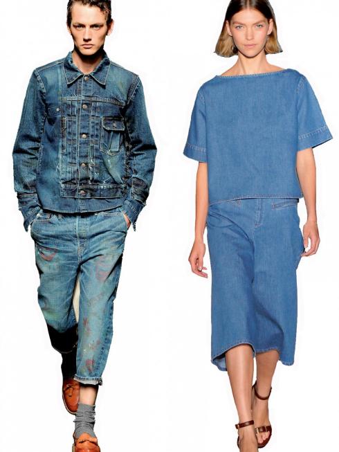 Cặp đôi denim (70's denim couple)<br/>Lấy cảm hứng từ những năm 70, trang phục denim  luôn được ưa chuộng trong các bộ sưu tập thời trang cáo cấp và trên đường phố.