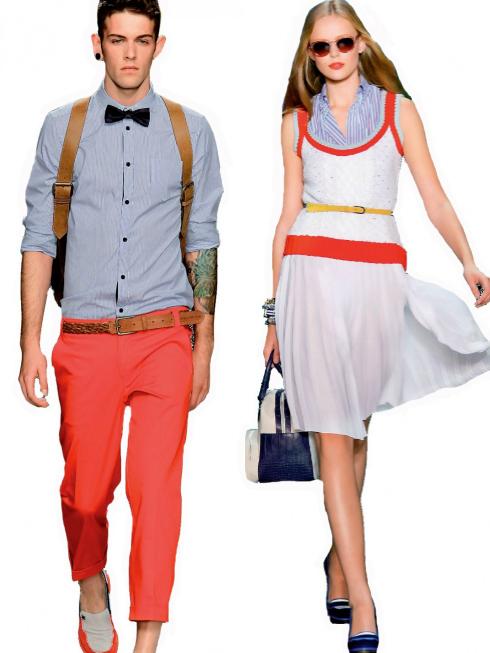 Cặp đôi picnic (picnic couple)<br/>Không thể bỏ qua trang phục cho những kỳ nghỉ cuối tuần trong mùa Xuân – Hè. Những chiếc áo đan hoa văn đầy màu sắc cho cảm giác thoải mái, những chiếc quần short năng động, với túi xách lớn có thể chứa rất nhiều vật dụng đều mang lại phong cách dã ngoại.