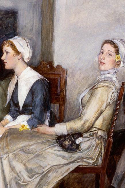 Vào thế kỉ 18, mỹ phấm bị nghiêm cấm ở Anh khi Nghị viện thông qua đạo luật cho phép hủy bỏ một cuộc hôn nhân nếu người phụ nữ từng trang điểm trước khi cưới (1770). Và giai đoạn này chỉ có kĩ nữ mới dám dùng son phấn.