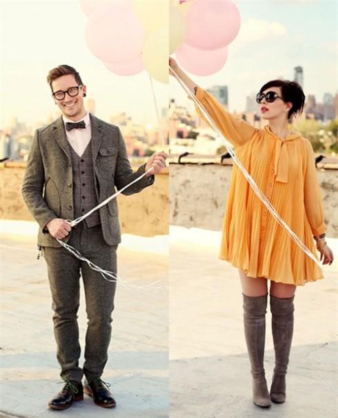 Cặp đôi thời trang dễ thương