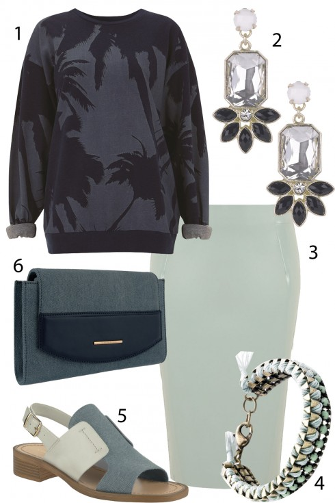 Thứ 4: Sắc xanh ghi nhẹ nhàng<br/>1.TOPSHOP 2.ACCESSORIZE 3.TOPSHOP 4.MANGO 5.CHARLES&amp;KEITH 6.CHARLES&amp;KEITH