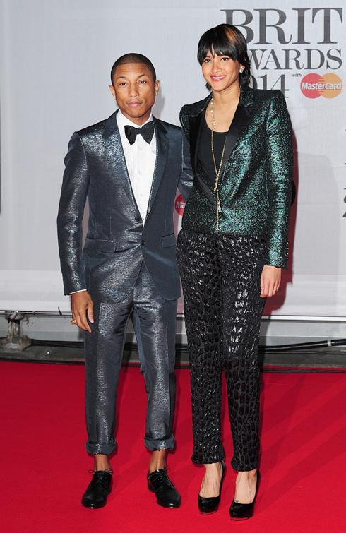 Nhà sản xuất nhạc - ca sĩ Pharrell Williams và vợ Hellen Lasichanh.