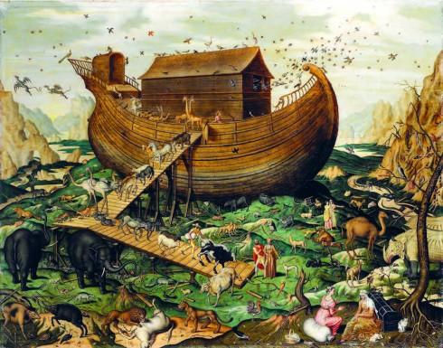 Theo Kinh Thánh, Thiên Chúa nhận ra loài người càng sinh sôi thì càng phạm nhiều tội lỗi không thể cứu vãn. Ngài quyết định trừng phạt bằng cách tạo ra một trận đại hồng thủy nhưng Noah là một người chưa bao giờ phạm lỗi gì nên Chúa quyết định tha mạng cho ông. Ngài hướng dẫn Noah đóng con thuyền lớn để bảo vệ các loài động thực vật khỏi trận lụt. Con tàu của Noah đã trở thành mô típ quen thuộc trong nhiều tác phẩm như phim 2012, Wall-E...