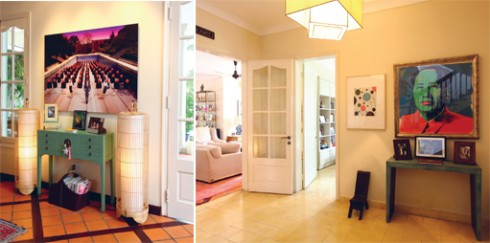 Trong khi đó, bên trong căn nhà lại có một không khí đô thị hiện đại với sắc màu trắng chủ đạo. Các bức tường được trang trí bằng tranh và những tấm ảnh chụp từ thập niên 1920.
