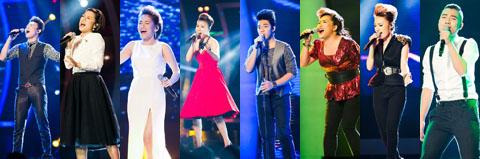 8 thí sinh dự thi đêm Gala3 vòng chung kết Vietnam Idol